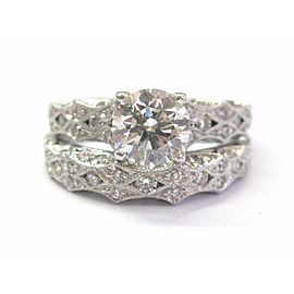 Tacori 18Kt Round Cut NATURAL Diamond Engagement SOLID White Gold Set 2.24CT