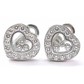 Chopard Happy Diamond Hearts White Gold Earrings 18KT 1.69Ct