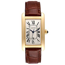 Cartier Tank Americaine Yellow Gold Automatic Mens Watch W2603156