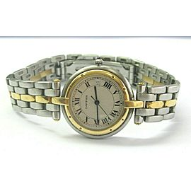 CARTIER COUGAR VENDOME 30MM STEEL AND GOLD QUARTZ WATCH MODEL 183964