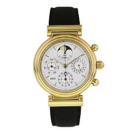 IWC Da Vinci Perpetual French IW3750 Yellow Gold Chronograph Watch