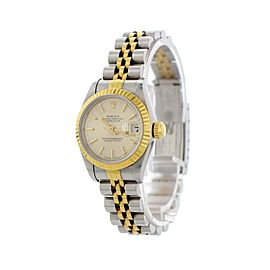 Rolex Oyster Perpetual Datejust 69173 Tapestry Dial Ladies Watch