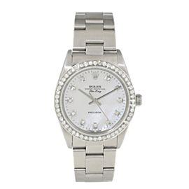 Rolex Air King Precision 14000 MOP Diamond mens Watch