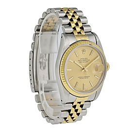 Rolex Datejust 16233 Tapestry Dial Mens Watch Box Papers