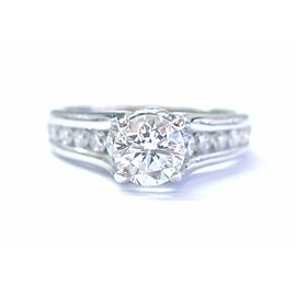 A Jaffe Classic Channel Set Diamond Bezeled Profile Engagement Ring