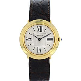 Cartier 18K Yellow Gold Vintage Manual Winding Watch