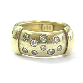 Natural Round Diamond WIDE Bezel Set Yellow Gold Ring 18Kt .35Ct Sizeable