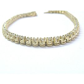 """Natural Round Diamond 4-Prong Solid Yellow Gold Tennis Bracelet 14KT 2.00Ct 7"""""""