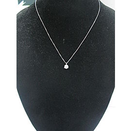 Fine Round Cut Diamond Solitaire Pendant Necklace 14KT .55CT