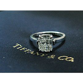 Tiffany & Co Radiant Diamond Solitaire Platinum Engagement Ring 2.27CT I-VVS1