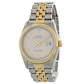 Rolex Oyster Perpetual Datejust 16233 Pyramid Dial Mens Watch