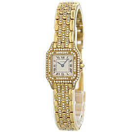 Cartier Panthere 128000 M 18k Yellow Gold Ladies Diamond Watch