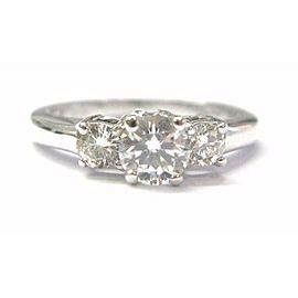 Round Diamond Three Stone Engagement Ring H-VS2 .76Ct