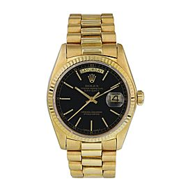 Rolex Day-Date President 18038 Yellow Gold Mens Watch Box Papers
