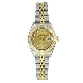 Rolex Datejust 69173 Diamond Dial Ladies Watch