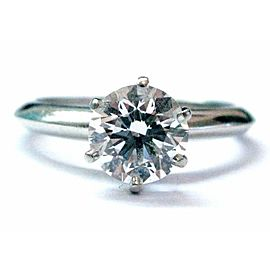 Tiffany & Co Platinum Round Diamond Solitaire Engagement Ring 1.28CT D-VS1