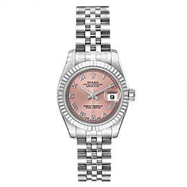 Rolex Datejust Steel White Gold Salmon Dial Ladies Watch
