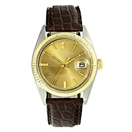 Vintage Rolex Datejust 1601 Two Tone Mens Watch