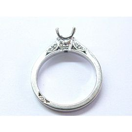 Tacori 18Kt White Gold Diamond Mounting Ring .25Ct ( Square .50Ct-.80Ct )