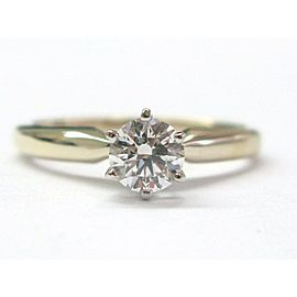 ZALES 18KT Round Cut Diamond Solitaire Engagement Ring GSL Certificate