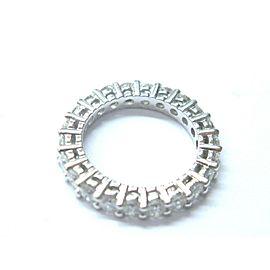 Fine Round Cut Diamond Eternity Band Ring White Gold Sz 5.25 1.85CT 2.9mm
