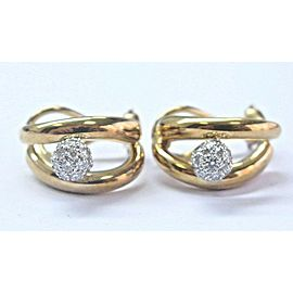 Tiffany & Co 18Kt/Platinum Diamond Ball Earrings .76Ct