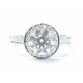 Tiffany & Co Platinum 1.23ct GVVS2 +.22ct Accent Diamond EMBRACE Engagement Ring