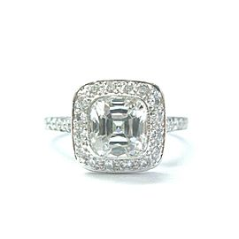 Tiffany & Co Legacy Diamond Platinum Engagement Ring 1.82CT+.42Ct E-VVS1 Cert!