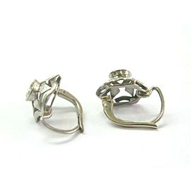 Vintage Diamond & White Gold Earrings .60Ct 14KT