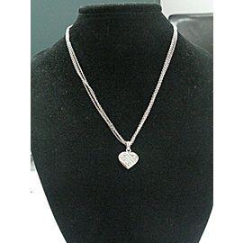 18Kt Princess Cut Invisible Set Diamond Pendant Necklace White Gold 1.03Ct