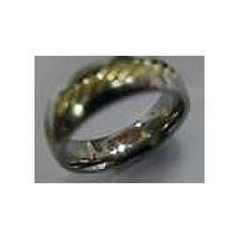 David Yurman 18Kt & SS Wire Ring Size 9 7.3mm