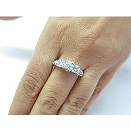 Fine 3-Stone Diamond White Gold Engagement Jewelry Ring 1.96Ct