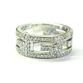 Gucci G Diamond Ring 18Kt White Gold Size 5.5 .60CT F/VS