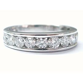 Round Cut Diamond 10-Stone Band Ring 14Kt White Gold 5.1mm 1.30CT