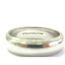 Tiffany & Co Platinum Milgrain Wedding Band Ring Size 9.5 6mm