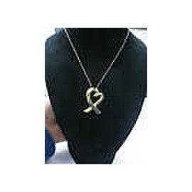 Tiffany & Co Paloma Picasso Loving Hearts Pendant & Chain 18Kt Yellow Gold