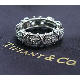 Tiffany & Co Platinum Jean Schlumberger 16 Stone Diamond Ring Size 5.5