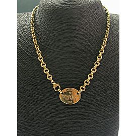 Tiffany & Co Please Return To Tiffany New York Necklace 18Kt Yellow Gold
