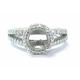 Ritani Platinum Diamond Semi Mount Engagement Ring .55Ct