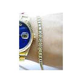 Fine Round Cut Diamond Yellow Gold Tennis Bracelet 14KT 2.25CT