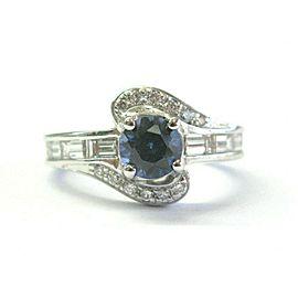 Natural Tanzanite & Diamond White Gold Jewelry Ring 1.82Ct 18Kt AAAA-VS