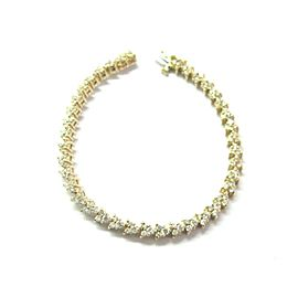 Round Cut Diamond Tennis Bracelet 14Kt Yellow Gold 117-Stones 3.00Ct 7""