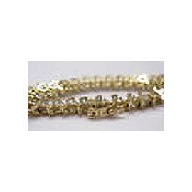 Fine Round Cut Diamond Tennis Bracelet Yellow Gold 14KT 2.64Ct