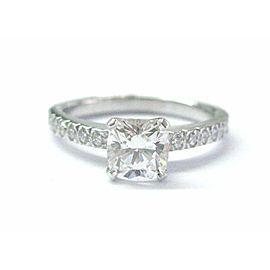 Tiffany & Co Platinum Novo Diamond Engagement Ring F-VS2 .88CT