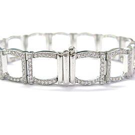 "Tiffany & Co Platinum 324 Round Diamond Square Bracelet 7"" 6.00Ct"
