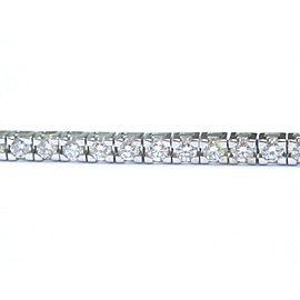 "JAFA Round Diamond Tennis Bracelet 18KT White Gold 54-Stones 3.83Ct E-F/VS 7.25"""