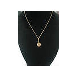 BVLGARI 18Kt Mother Of Pearl Optical Pendant Necklace Yellow Gold 16""