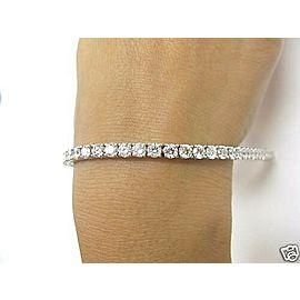 "Natural Round Cut Diamond White Gold Tennis Bracelet 7"" 10.01CT 42-Stones 18Kt"