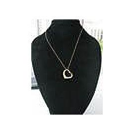Tiffany & Co Elsa Peretti Diamond Open Heart Pendant Yellow Gold 0.70Ct