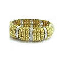 "WIDE Diamond Bracelet 18Kt Solid Yellow Gold F / VS1 6.75"" 6.40Ct 3/4"" WIDE"